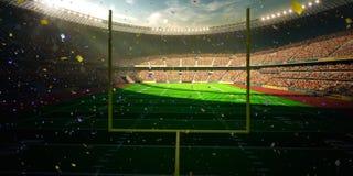 Seger för mästerskap för dag för fotbollarenastadion Royaltyfri Foto