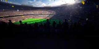Seger för mästerskap för dag för fotbollarenastadion Arkivbilder