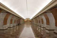 seger för metromoscow park Arkivfoton