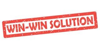 Seger-seger lösning - grungeklistermärke för tryck stock illustrationer