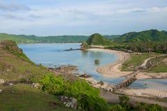 Seger strand Lombok Indonesien royaltyfria foton