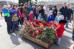 Segerdag i St Peterburg Royaltyfri Fotografi