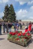 Segerdag i St Peterburg Arkivbild