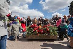 Segerdag i St Peterburg Fotografering för Bildbyråer