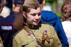 Segerdagberömmar i Moskva Royaltyfri Fotografi