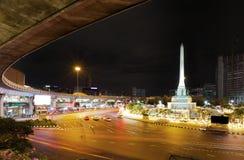 Segermonumentbangkok gränsmärke Thailand Fotografering för Bildbyråer