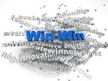 segern för imagenen 3d - segra bakgrund för begreppsordmolnet Royaltyfri Foto