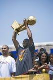 Segern ståtar för mästare för 2009 NBA Arkivfoto