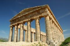 Segesta多立克体寺庙  库存照片