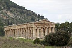 Segesta季度寺庙  图库摄影