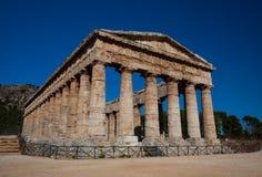 Segesta寺庙,其中一具希腊样式最佳的遗骸在西西里岛,意大利 免版税库存图片