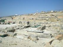 Segesta希腊寺庙在特拉帕尼附近的在意大利 免版税图库摄影