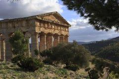 Segesta希腊寺庙 免版税图库摄影