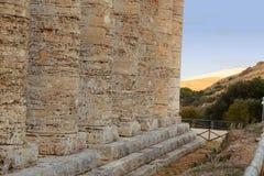 Segesta -西西里岛 库存图片