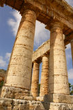Segesta archaeological site of ancient greece drills Sicily Ital Stock Photo