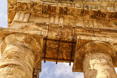 Segesta archaeological site of ancient greece drills Sicily Ital Royalty Free Stock Images