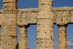 Segesta archaeological site of ancient greece drills Sicily Ital Stock Image