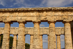 Segesta archaeological site of ancient greece drills Sicily Ital Stock Photos