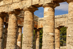 Segesta archaeological site of ancient greece drills Sicily Ital Royalty Free Stock Image