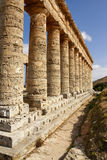 Segesta archaeological site of ancient greece drills Sicily Ital Royalty Free Stock Photos