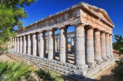 Segesta den grekiska templet av Venus, Sicilien, Italien arkivbilder