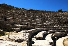 Segesta's theater (Sicily) Royalty Free Stock Image