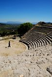 Segesta's theater (Sicily) Royalty Free Stock Images