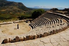 Segesta (Sicília) - o teatro Foto de Stock