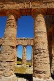 Segesta (Sicília) - o templo grego Foto de Stock