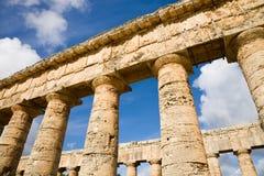 Segesta Sicilien, Italien arkivbilder