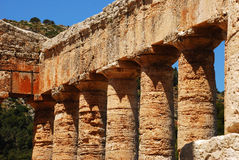 Segesta (Sicily). The Temple of Segesta, one of the most perfectly preserved monuments to survive from Antiquity, stands in majestic solitude on a hill Stock Photos