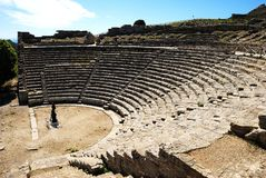 Segesta (Sicily) - The theater Royalty Free Stock Images