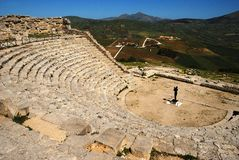 Segesta (Sicily) - The theater Stock Images