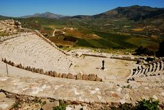 Segesta (Sicily) - The theater Royalty Free Stock Photography