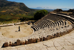Segesta (Sicily) - The theater Stock Photo