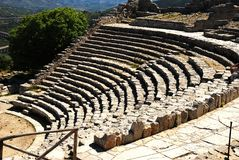 Segesta (Sicily) - The theater Stock Photos