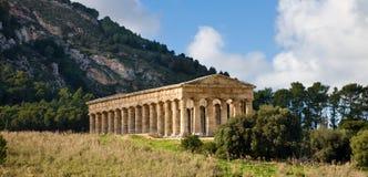 Segesta tempel, Sicily arkivfoton