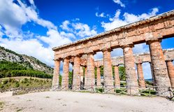 Segesta temple, Sicily, Italy Stock Images