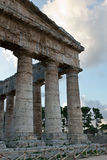 Segesta temple after sundown - Trapani province Royalty Free Stock Images