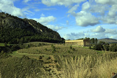 Segesta temple Royalty Free Stock Image