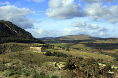 Segesta temple Royalty Free Stock Photo