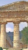 segestatempel för grek 4 Arkivbilder