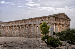 Segeste. Archaeological area of Segeste in Sicily Royalty Free Stock Photos