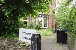 Seggio elettorale fotografie stock