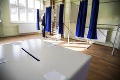Seggio elettorale Fotografia Stock