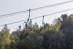 Seggiovia dello sci in sanguinato in, la Slovenia Fotografie Stock