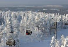 Seggiovia in montagna da Ural, Russia Immagine Stock Libera da Diritti