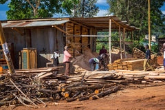 Segheria del legname fotografia stock libera da diritti