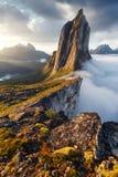 Segla峰顶在挪威 库存图片
