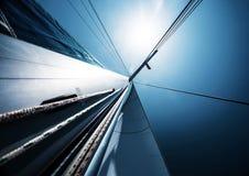 Segla över klar himmel för blått Fotografering för Bildbyråer